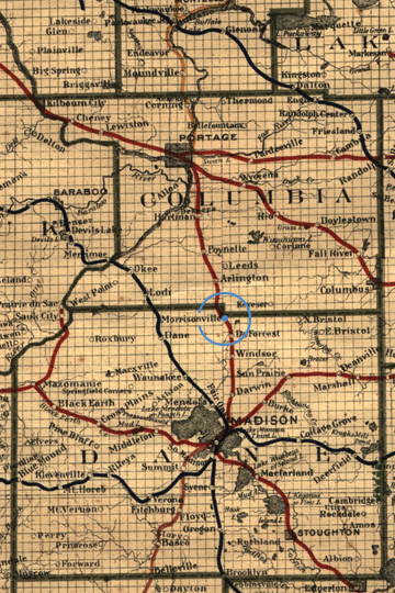 1917 Wisconsin RR Map